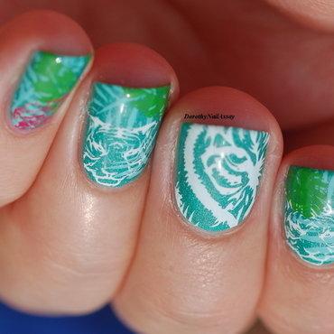 jungle nail art  nail art by Dorothy NailAssay