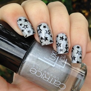 Holo stars nail art by Sanela