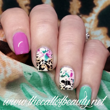 Bright Leopard nail art by The Call of Beauty