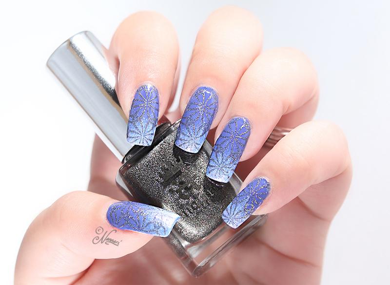Suite Retreat & Bluebird nail art by Nanneri