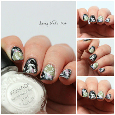 Nail Art Stamping dans le ciel  nail art by Lovely Nail's  Art