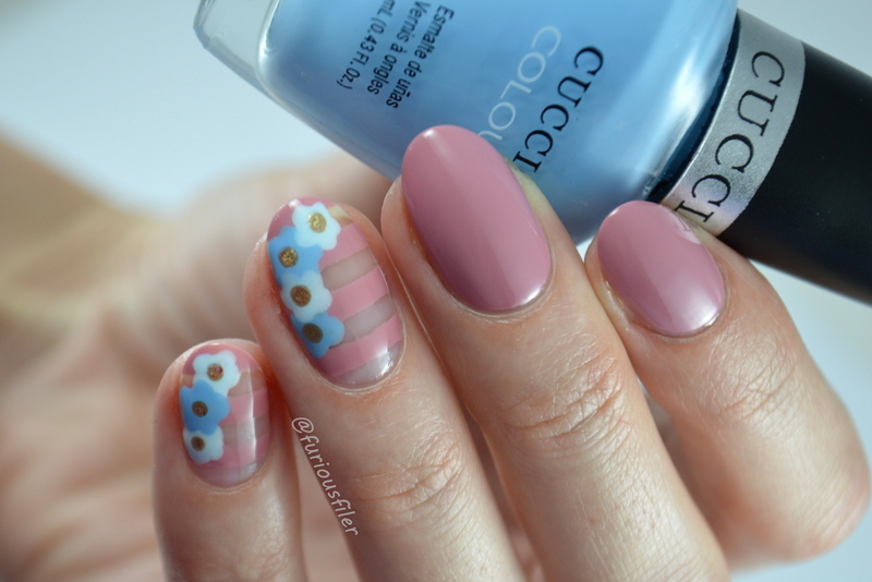 Pantone Florals nail art by Furious Filer