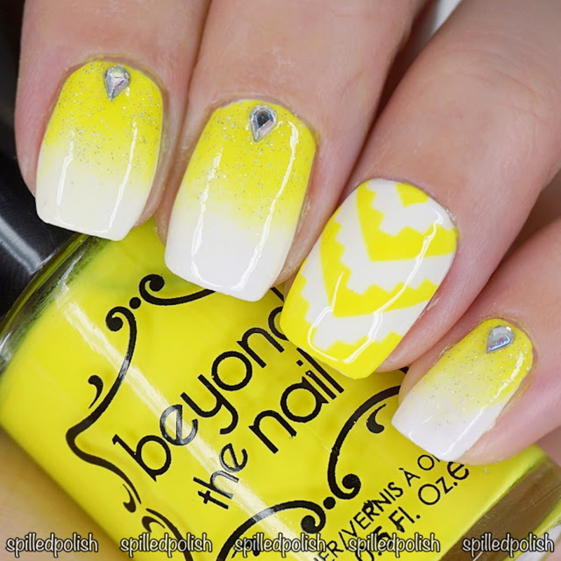 31DC2016: Day 3 - Yellow Nails nail art by Maddy S
