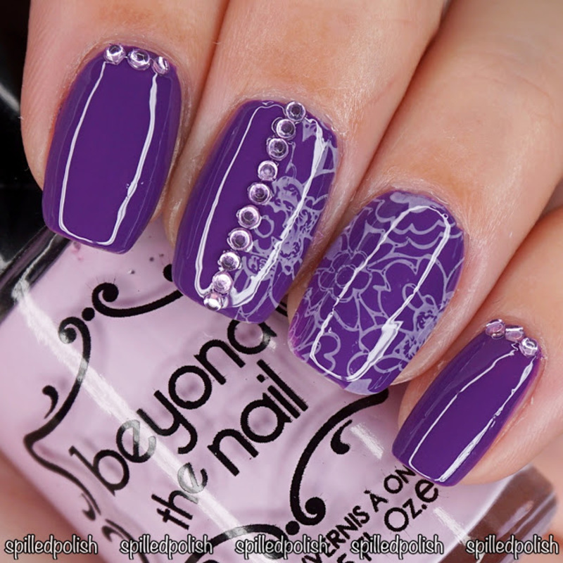 31DC2016: Day 6 - Violet Nails nail art by Maddy S