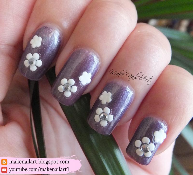Flowers Nail Art Design nail art by Make Nail Art