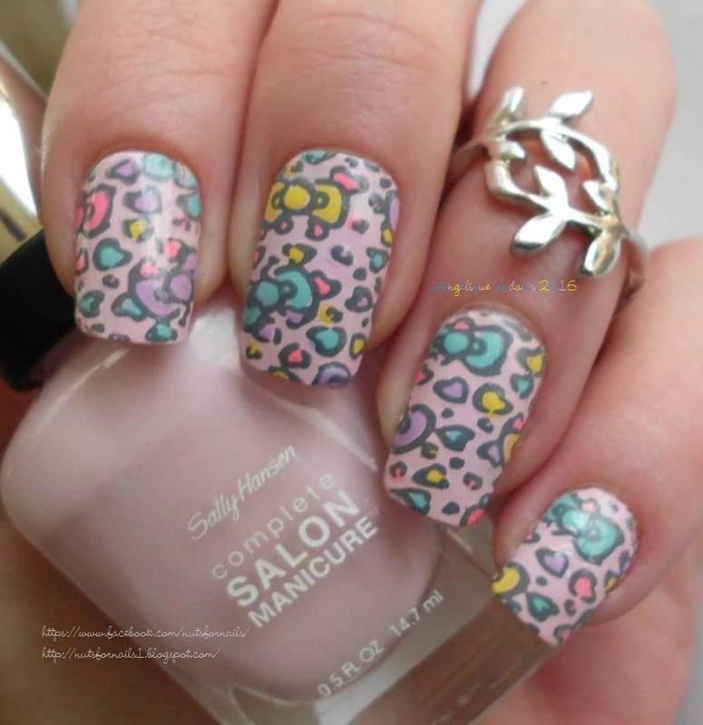 Hello Kitty Wallpaper  nail art by Angelique Adams