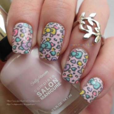 Hello Kitty Wallpaper  nail art by Angelique Adams