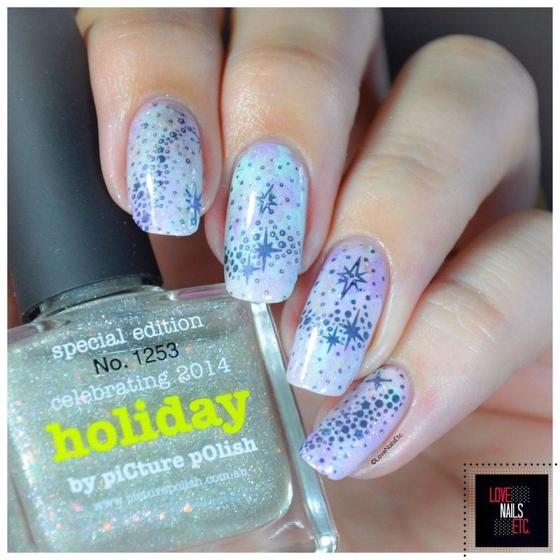 In the sky... nail art by Love Nails Etc