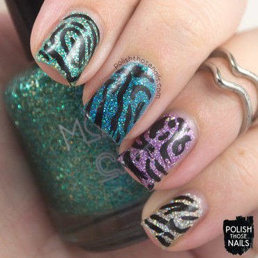 Micro Glitter Randomness nail art by Marisa  Cavanaugh