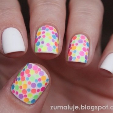 dots all the way nail art by Zu