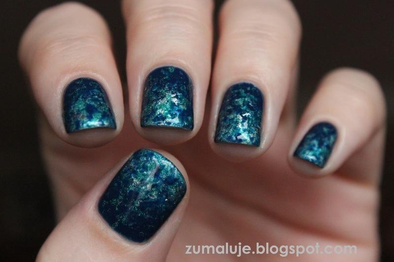 sea style nail art by Zu