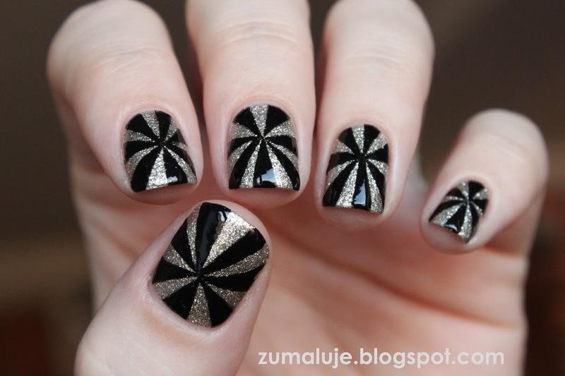 hypnosis nail art by Zu