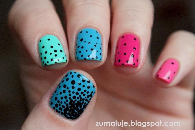 dots dots dots nail art by Zu