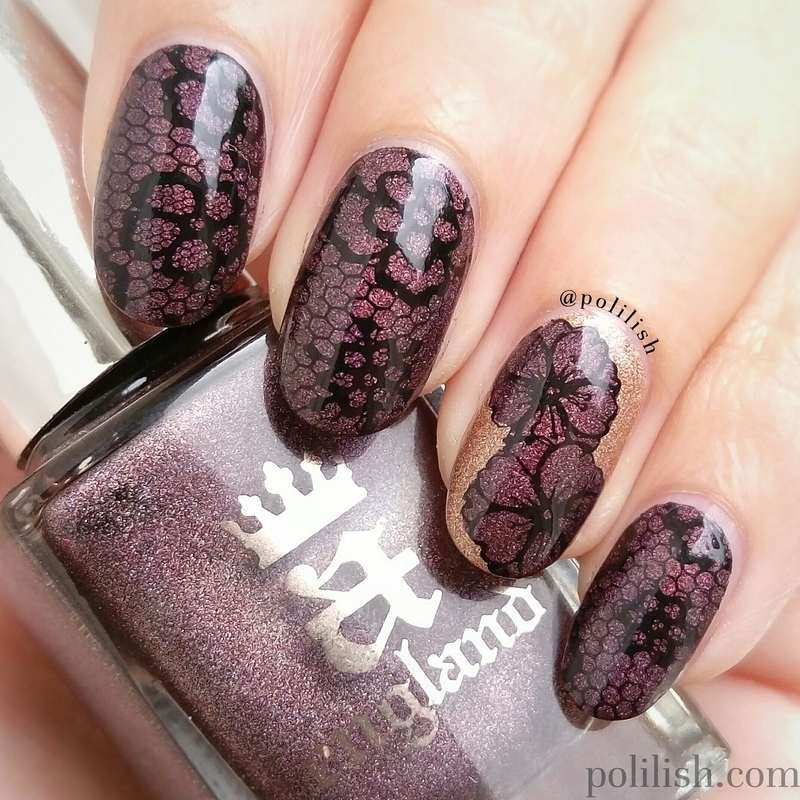 Lace and flowers nail art by polilish