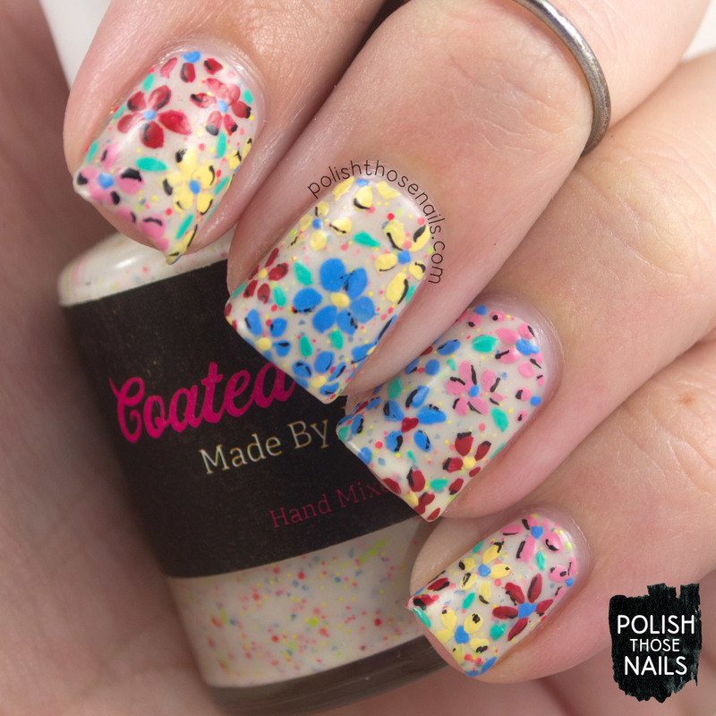 Pop Tart Florals nail art by Marisa  Cavanaugh