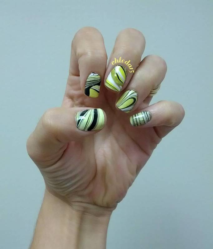 Flowing Sunshine nail art by chleda15