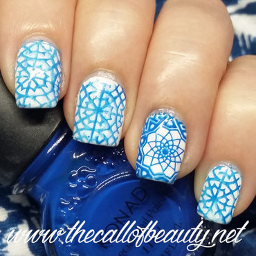 Azulejos Manicure nail art by The Call of Beauty