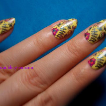 Multichrome flowers nail art by notcopyacat