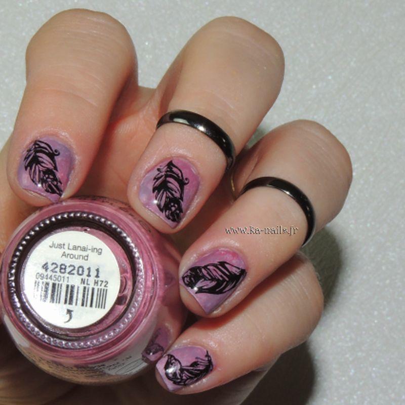 Il était une fois des Plumes nail art by Ka'Nails