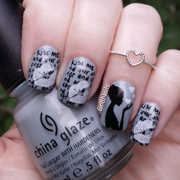 Kiss Me nail art by Gr8Nails