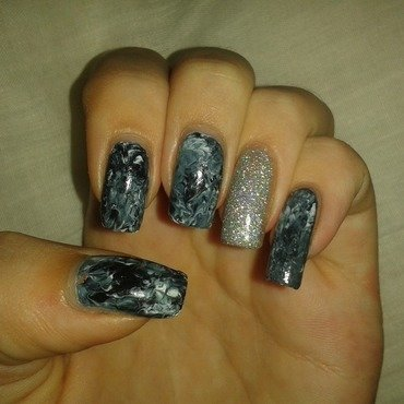 sparkling darkness nail art by dark_nail_artist