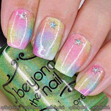 31DC2016: Day 9 - Rainbow Nails nail art by Maddy S