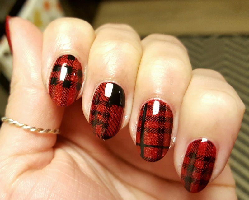 Mad for Plaid nail art by Alisha Worth