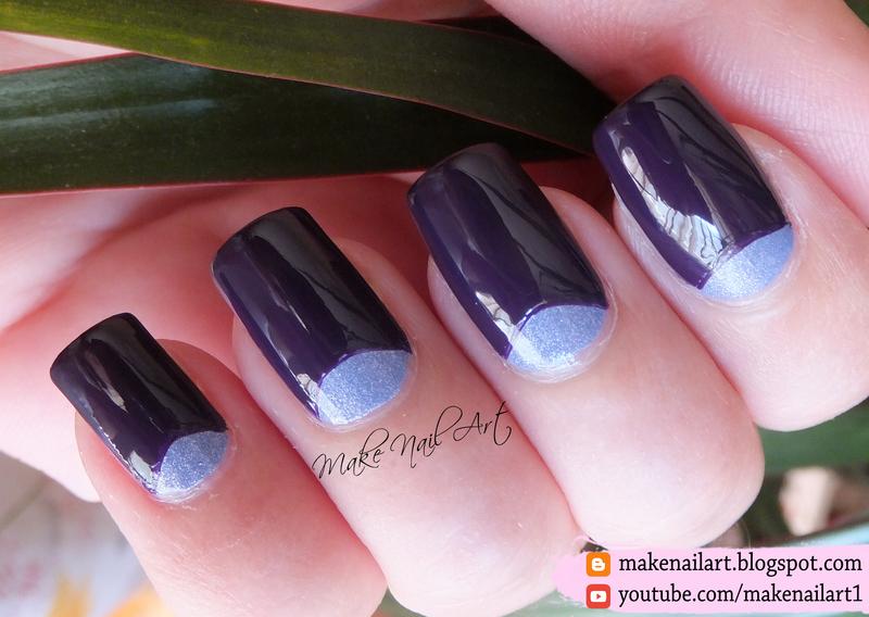 Half Moons Nail Art Design nail art by Make Nail Art