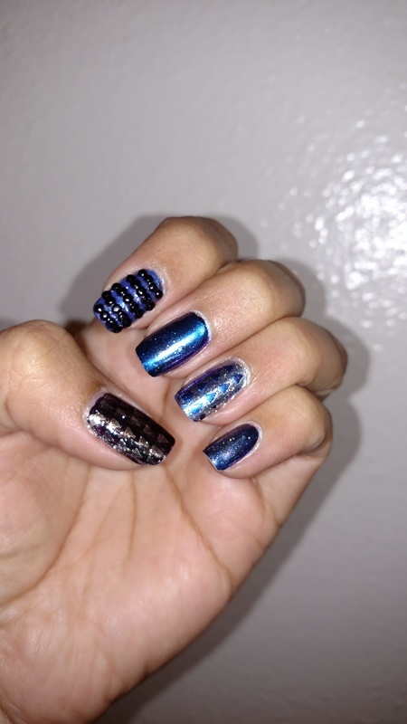 Dreamin in blue nail art by Rubby  Jarnagin