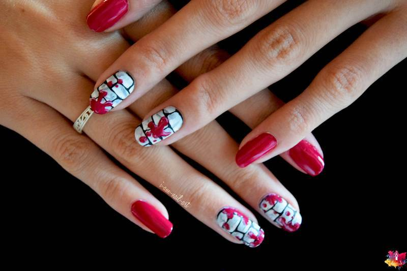 Splash nail art by i-am-nail-art