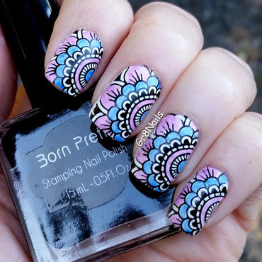 Born Pretty Stamping nail art by Gr8Nails
