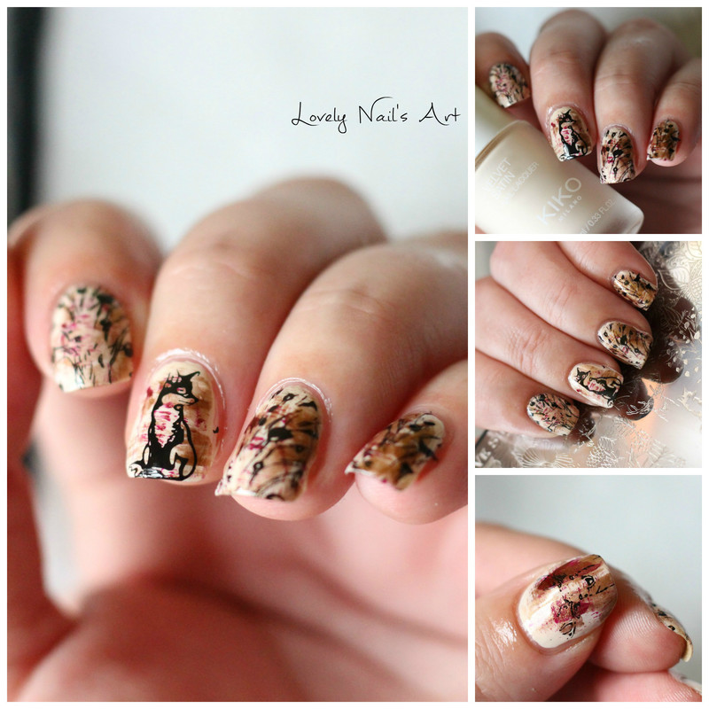 Nail art stamping automne nail art by Lovely Nail's  Art