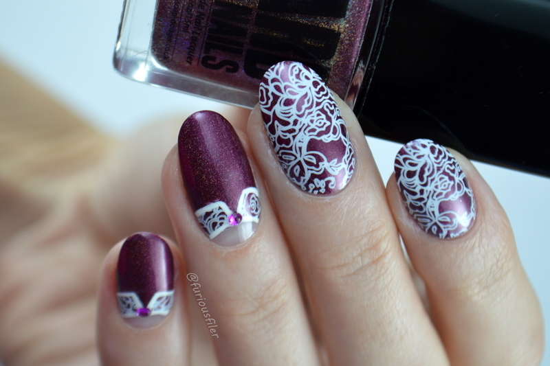 Vintage Lace Collars nail art by Furious Filer