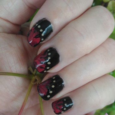 Fire & brimstone nail art by tigerlyly
