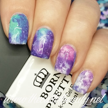 Galaxy Manicure nail art by The Call of Beauty