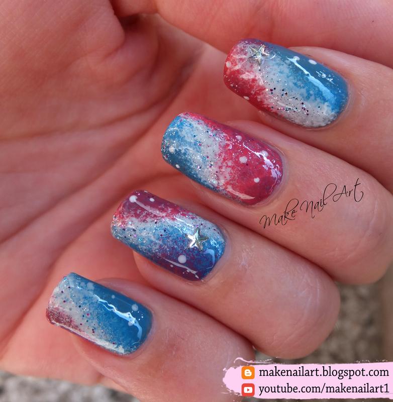 Galaxy Nail Art Design nail art by Make Nail Art