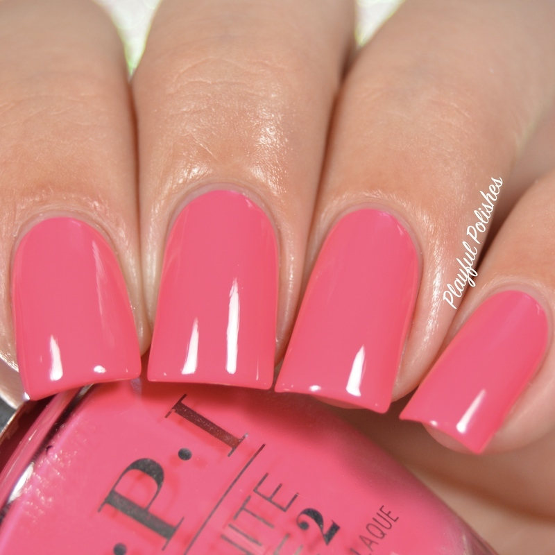 Opi Infinite Shine Strawberry Margarita Swatch By Playful Polishes Nailpolis Museum Of Nail Art