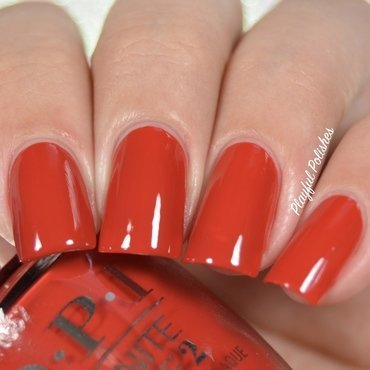 OPI Infinite Shine Big Apple Red Swatch by Playful Polishes