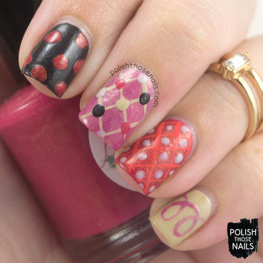 Illustration book polka dot stripe matte nail art 4 thumb370f