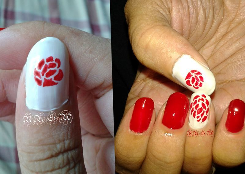 Rose nail art by Rusa