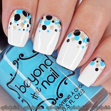 #31DC2016: Day 11 - Polka Dots nail art by Maddy S