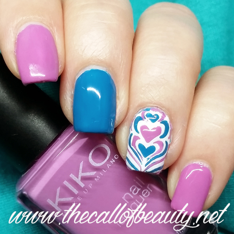 Love Marble nail art by The Call of Beauty