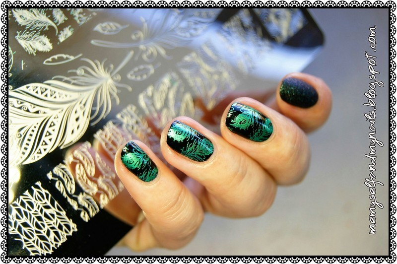Peacock feathers nail art by ELIZA OK-W