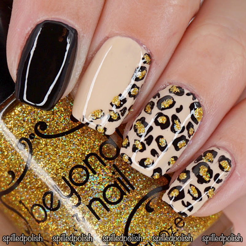 #31DC2016: Day 13 - Animal Print nail art by Maddy S