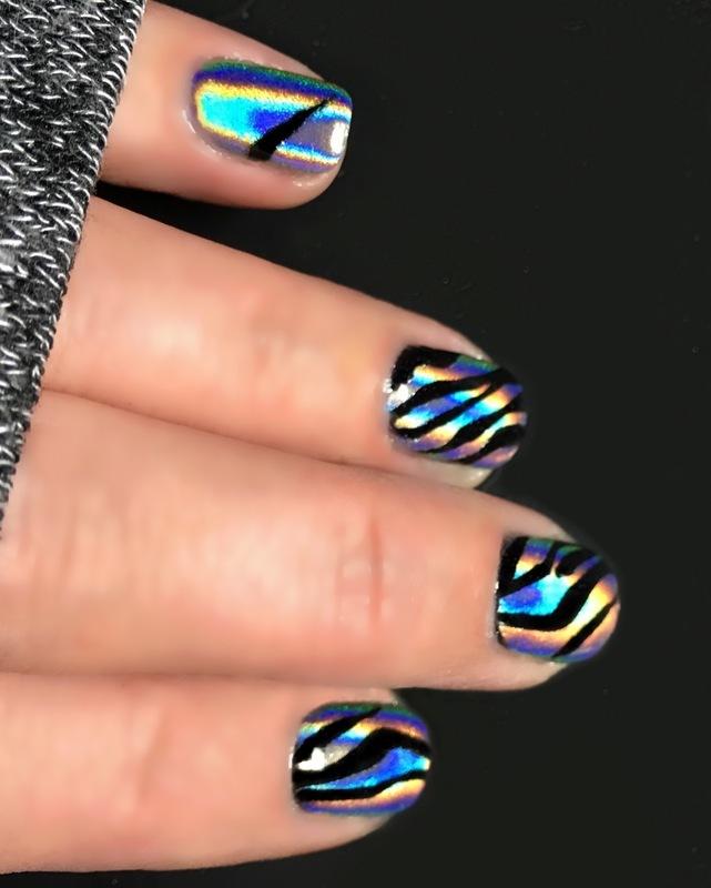 Zebricorn  nail art by Angela Zeleny