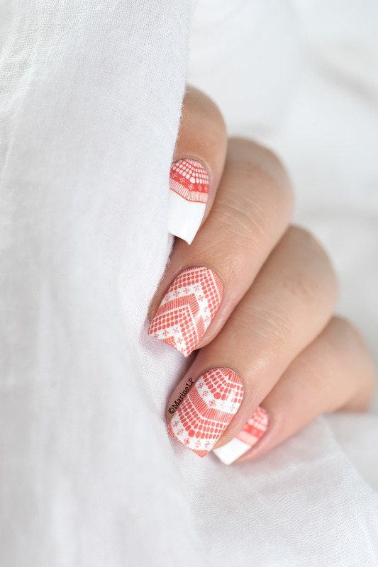 Le retour des water decals nail art by Marine Loves Polish