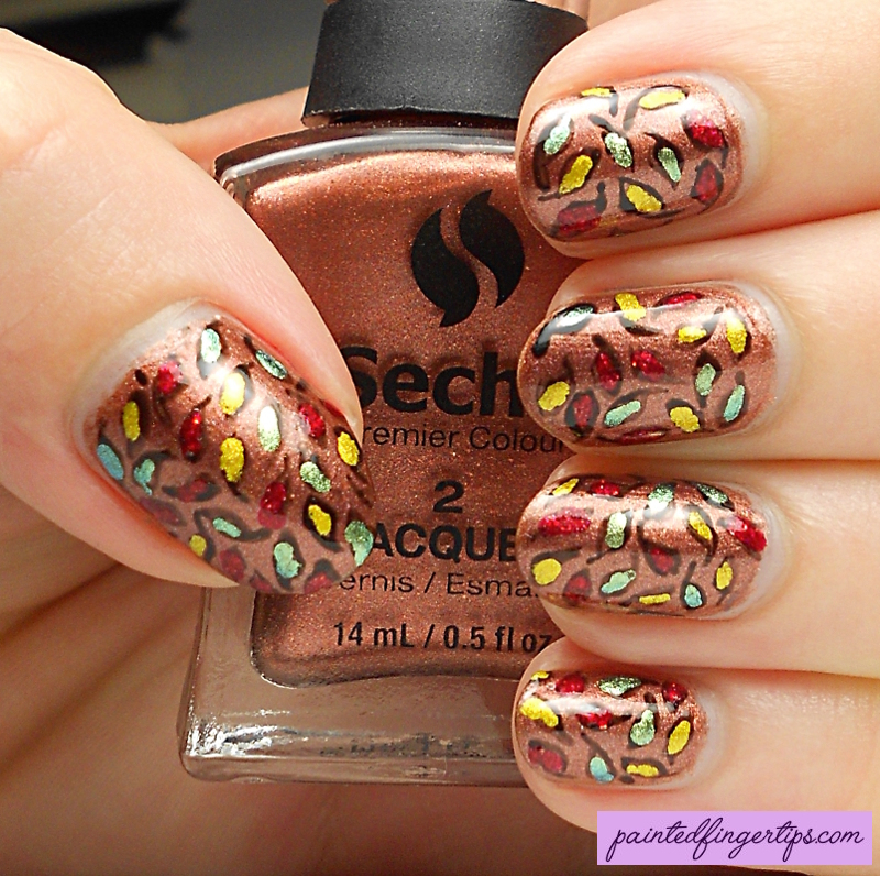 Autumn Leaves nail art by Kerry_Fingertips
