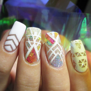 Negative space nail art by NailArt_T