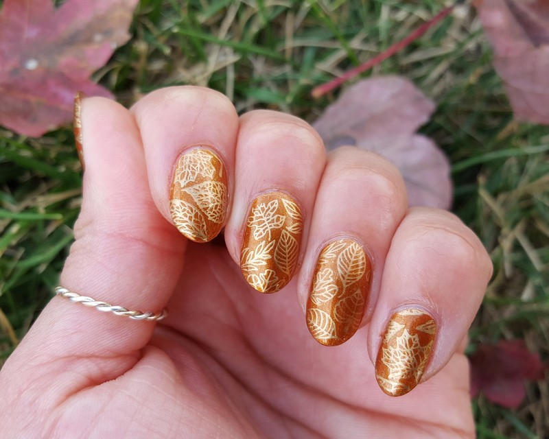 Fall at my fingertips nail art by Alisha Worth