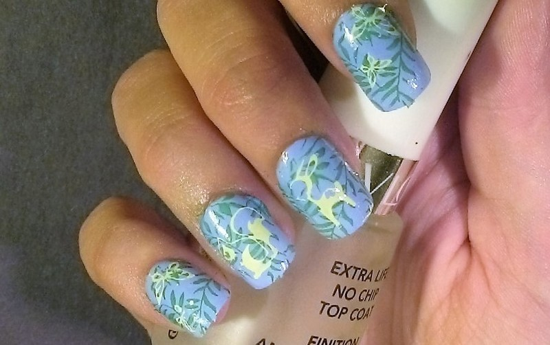 Enchanted Forest nail art by Kristyna